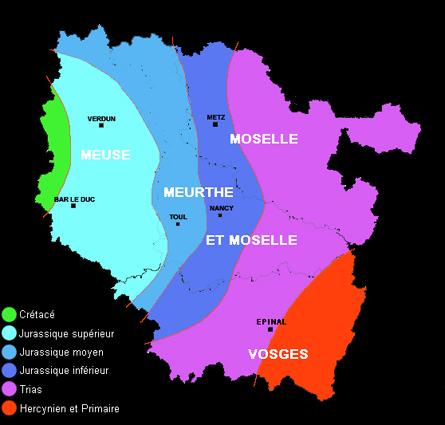 Carte Geologique Lorraine.Lorraine